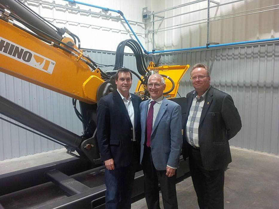 Visit to Rock-Tech from David de Launay Deputy Minister of Ontario MNDM